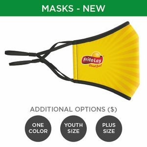 Mask with Sewn-In Filter - 3D 3-Ply Full-Color Polyester Adjustable Ear Adult
